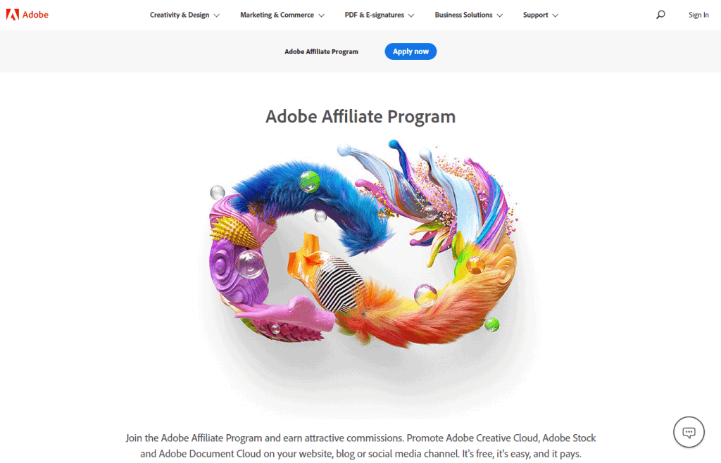 Adobe- Best Affiliate Programs For Bloggers