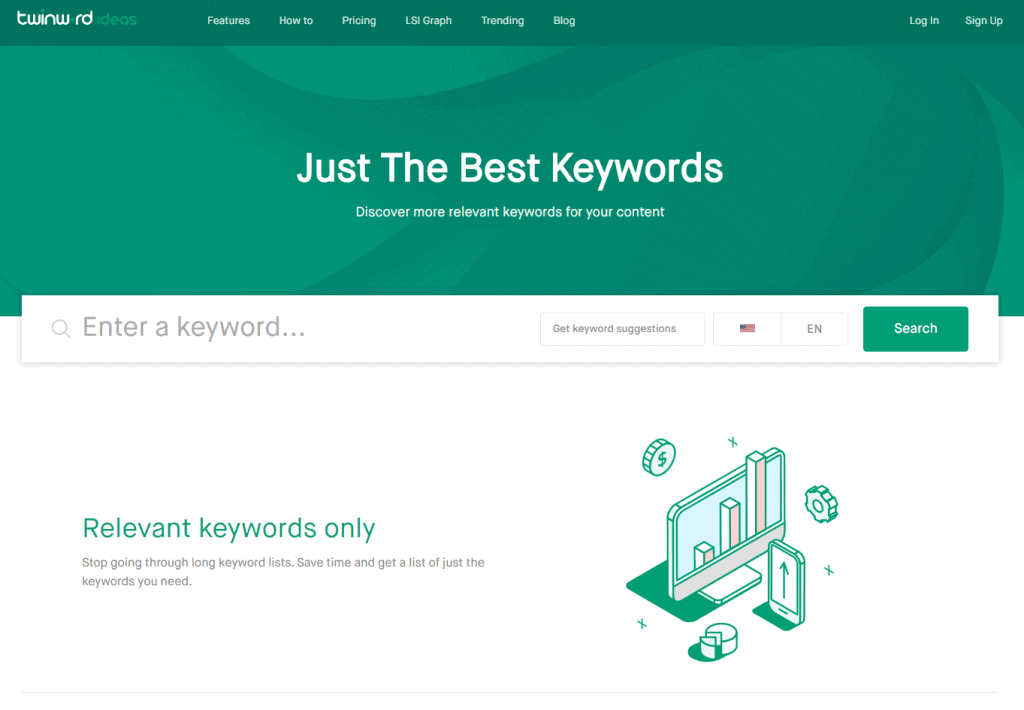 Free Best Keyword Research Tools: TwinWord Ideas