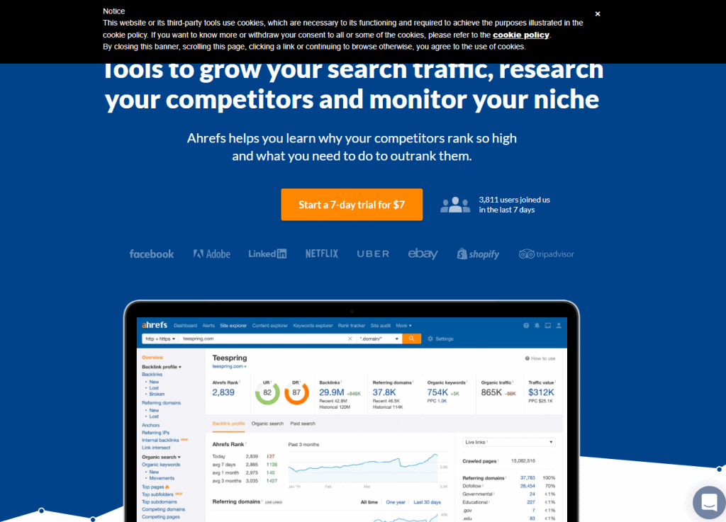 Paid Best Keyword Research Tools: AHREFS