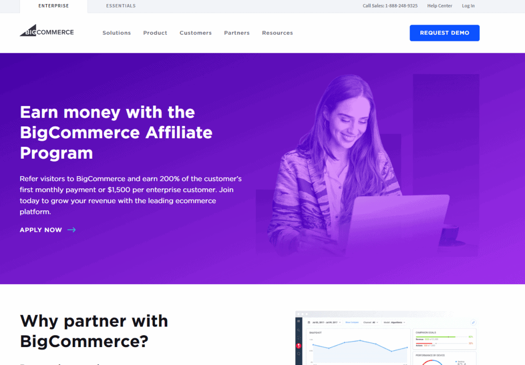 Big Commerce- Best Affiliate Programs For Bloggers