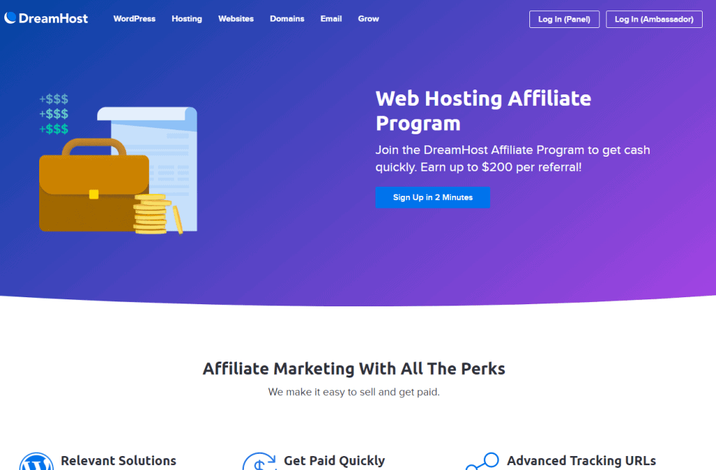 Dream Host- Best Affiliate Programs For Bloggers