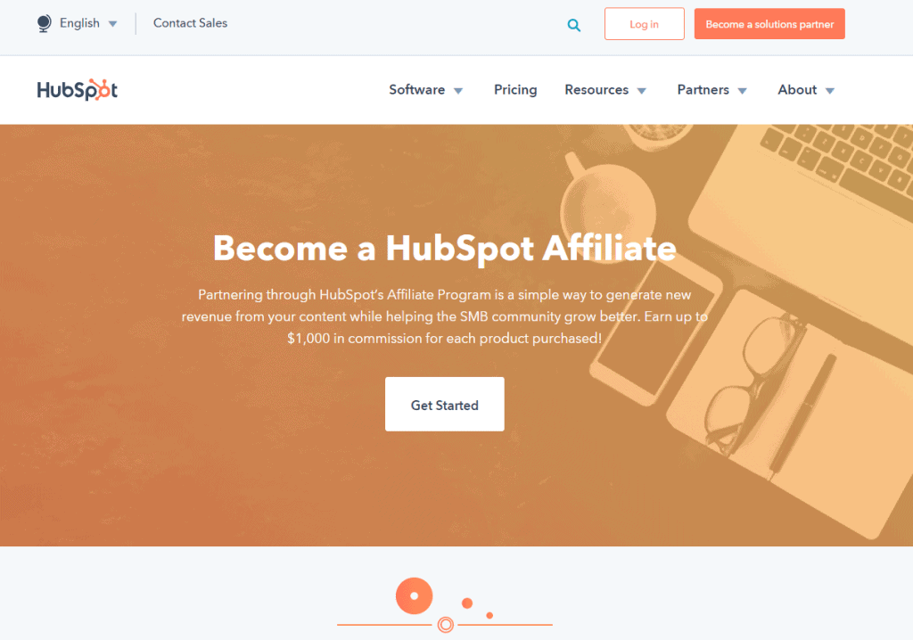 HubSpot- Best Affiliate Programs For Bloggers