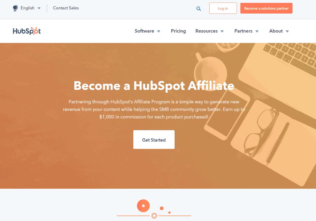 HubSpot- Best Affiliate Programs For Bloggers