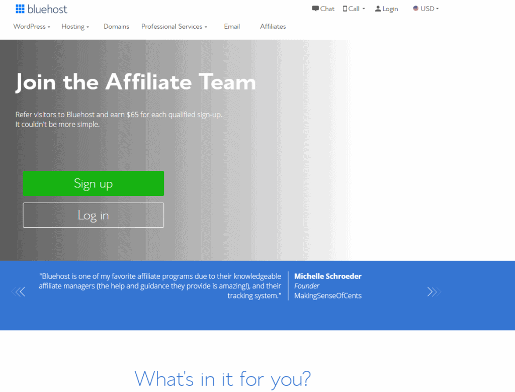 Bluehost- Best Affiliate Programs For Bloggers